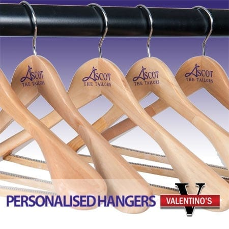 Valentino's Displays Branded Hangers