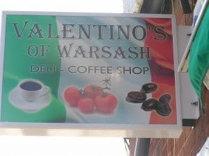 Shop Signage for Valentino's of Warsash