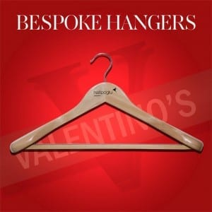 Wooden Clothes Hanger with Logo