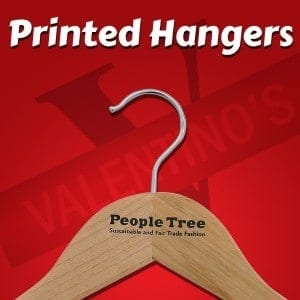 Wooden Hangers Printed with Logo