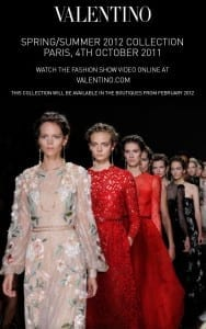 Spring/Summer 2012 Collection Paris Fashion Week Valentino Valentino's Displays Blog