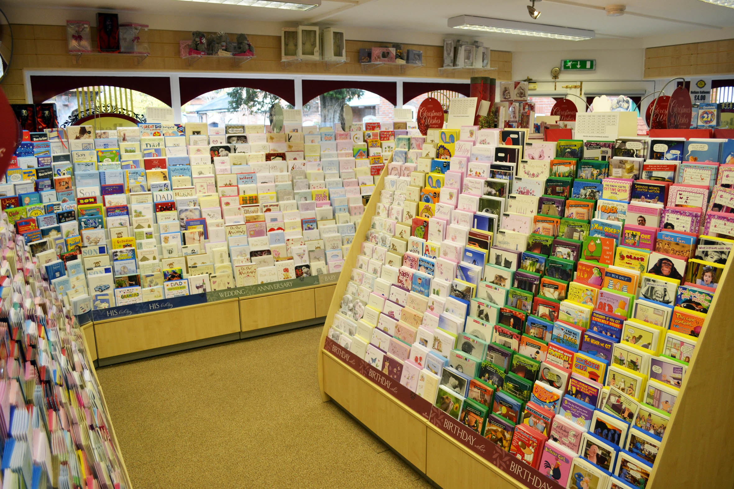Counter and Gondola Display for Southampton Business – Birthday Card Shop