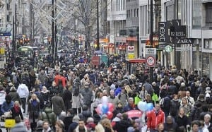Christmas Crowds West End London