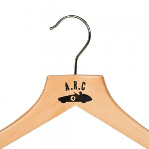 Custom Wooden Hangers Printed with Logo