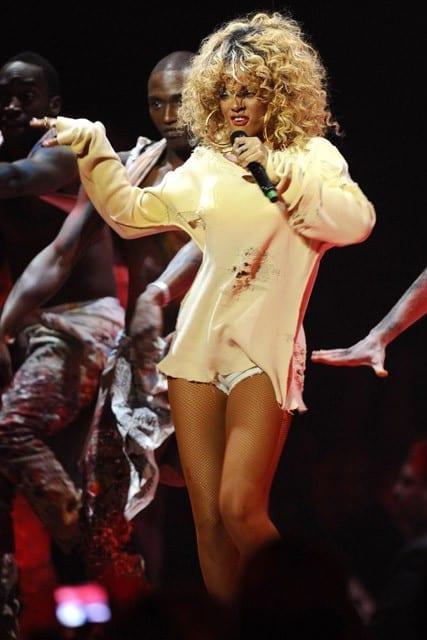 Rihanna at the Brit Awards - Feb 2012