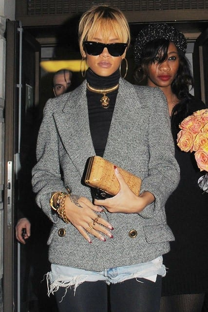 Rihanna in Topshop - Oxford Street, London 2012