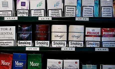 Cigarette Shop Display