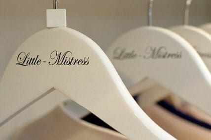 Custom Printed Coat Hangers for Little Mistress