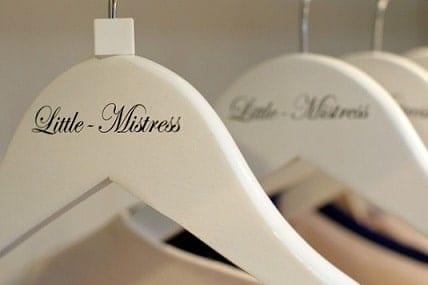 Little Mistress printed hangers for Lauren Pope Valentino's Displays Blog