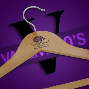 Printed Coat Hangers UK for Harris and Howard Bespoke