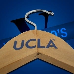 Branded Wooden Coat Hangers for UCLA