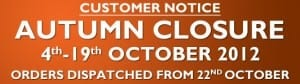 Autumn Closure 2012