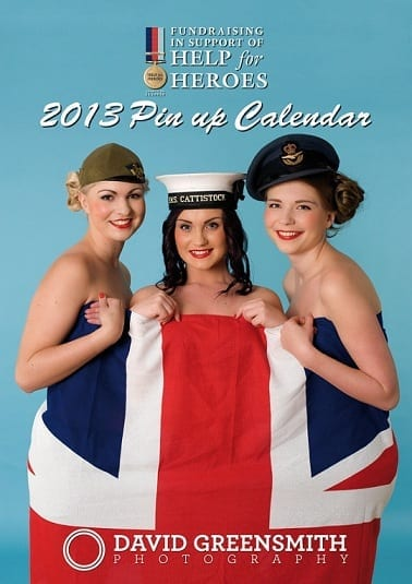 Help for Heroes 2013 Calendar Cover