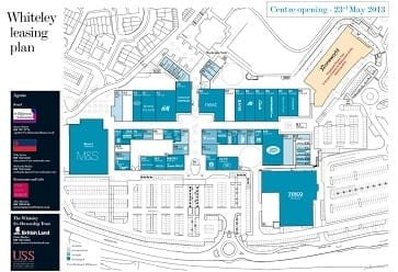 Whiteley Shopping Centre Site plan