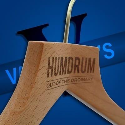 Bespoke engraved clothes hangers Humdrum Apparel Valentino's Displays Blog