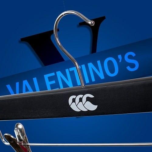 Bespoke hangers for Canterbury of New Zealand UK Valentino's Displays Blog