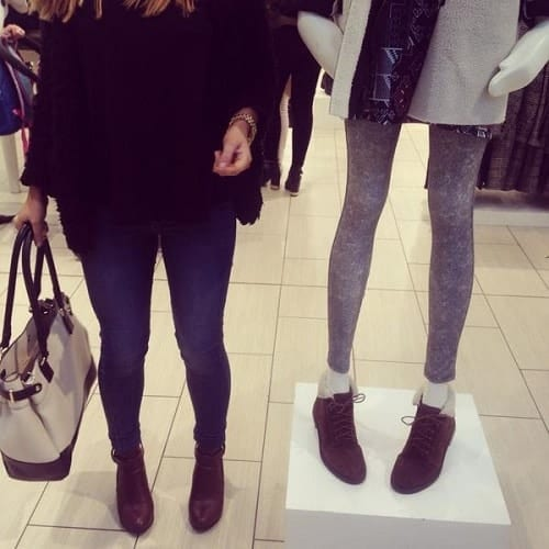 Skinny mannequin on display in a Topshop store in St Stephen's Shopping Centre, Hull