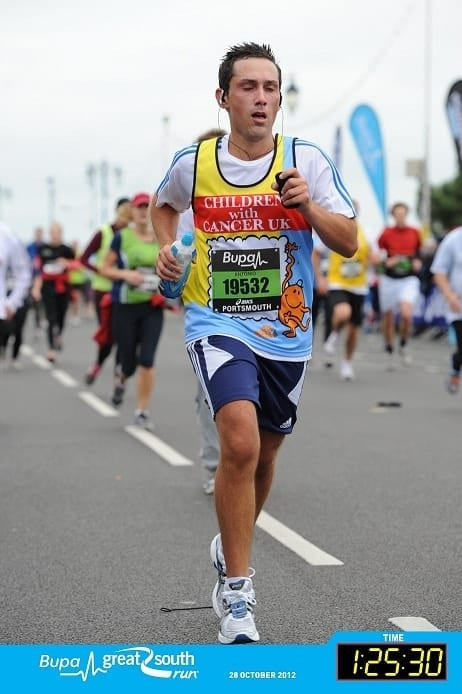 Antonio from Valentino's Displays ran the Bupa Great South Run in 2012