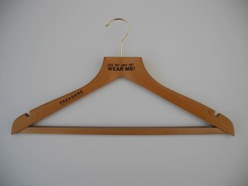 Laser Engraved Coat Hangers