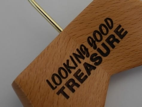Engraved Wooden Coat Hangers