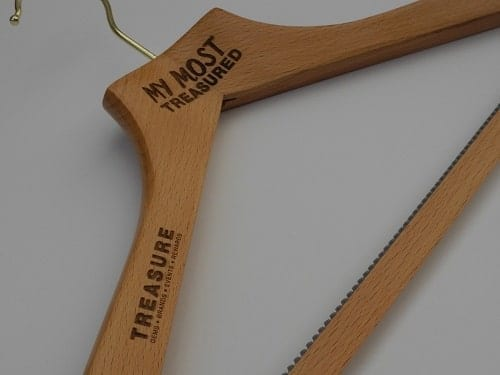 "Logo Coat Hangers, UK - ""My Most Treasured"""