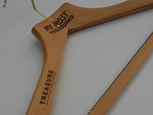 "Logo Coat Hangers, UK - ""My Most Treasured"""