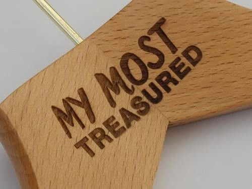 "Bringing Your Brand To Customers Homes - Logo Hangers ""My Most Treasured"""