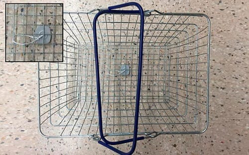 Tesco Forced To Put Security Tags On Wire Shopping Baskets