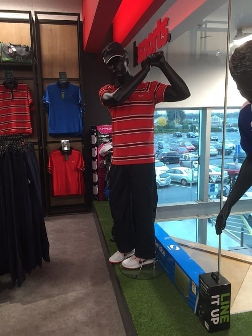 Male Golfer Sports Mannequin - Valentino's Displays