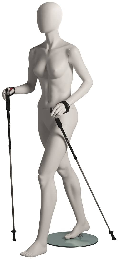 Female Hiker Walking Mannequin