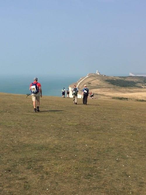 walking along beachy head on the south coast challenge