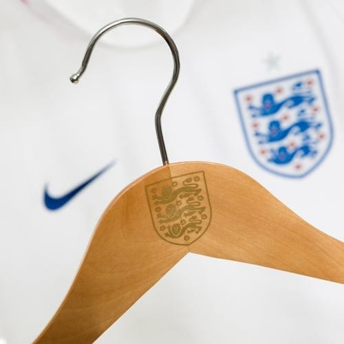 custom hangers for the England National Football Team