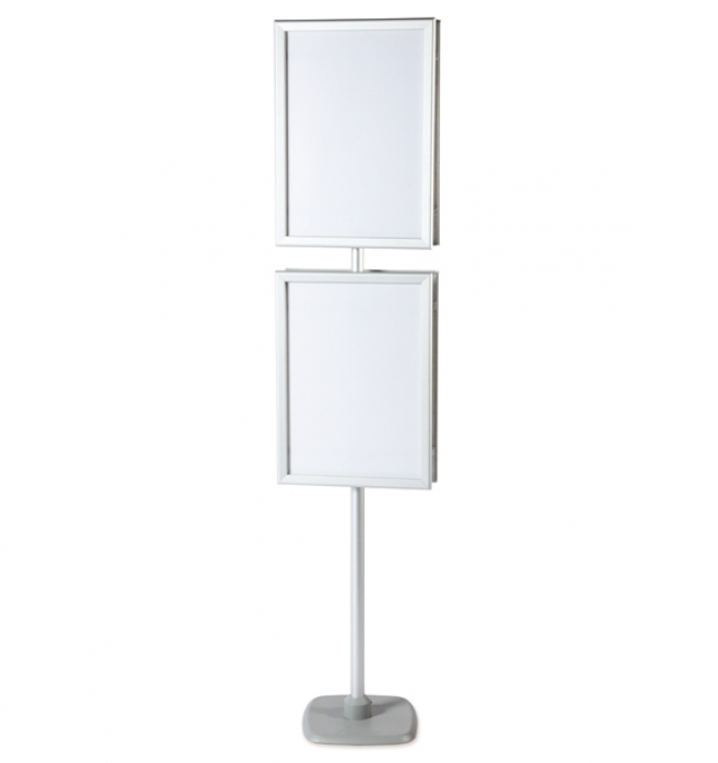 A2 Pole Amp Frame Display Stands 2 Poster Frames