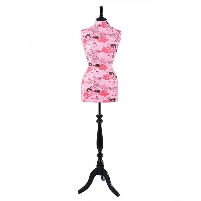 Female Dressmakers Mannequin Pink Flower Jersey 36 Inch Bust