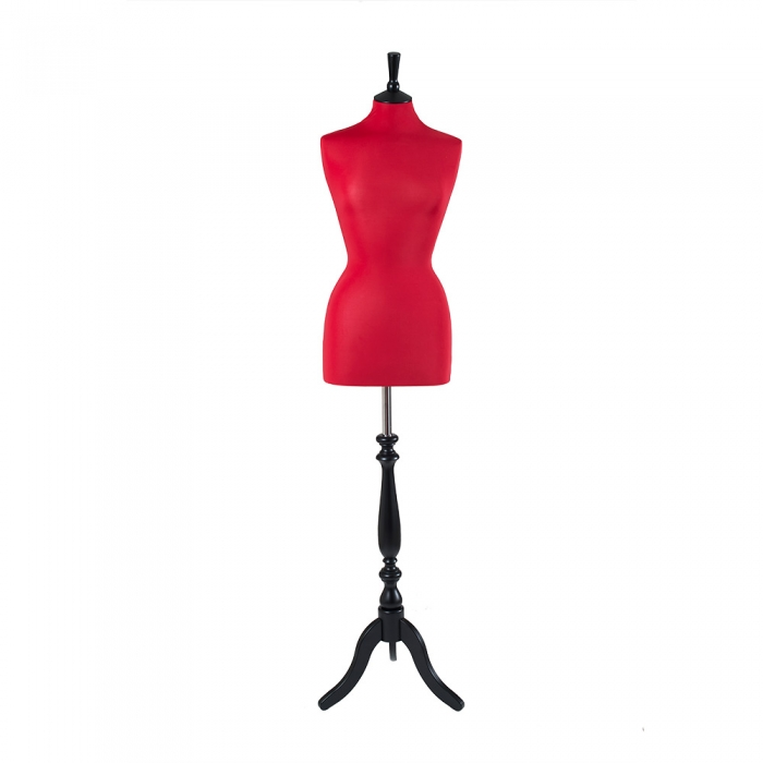 Female Dressmakers Mannequin Red Jersey 36 Inch Bust