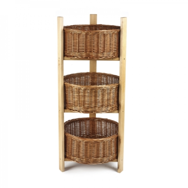 Three Tiered Stand With Baskets