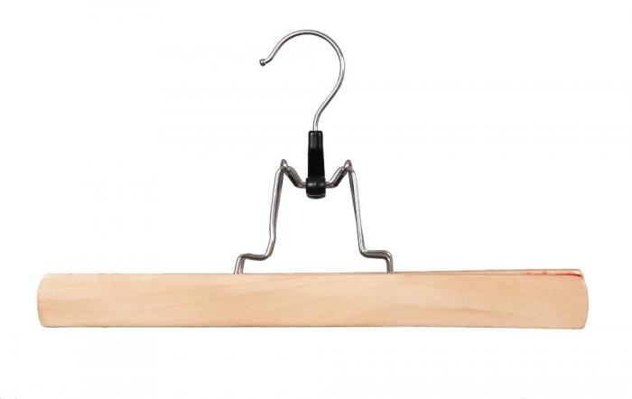 Wooden Clamp Coat Hanger 30cm Box Of 100 Uk