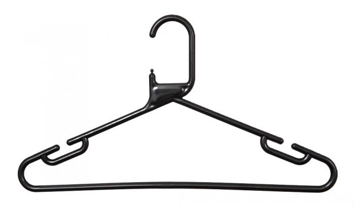 Adult Plastic Hangers Black Box Of 120