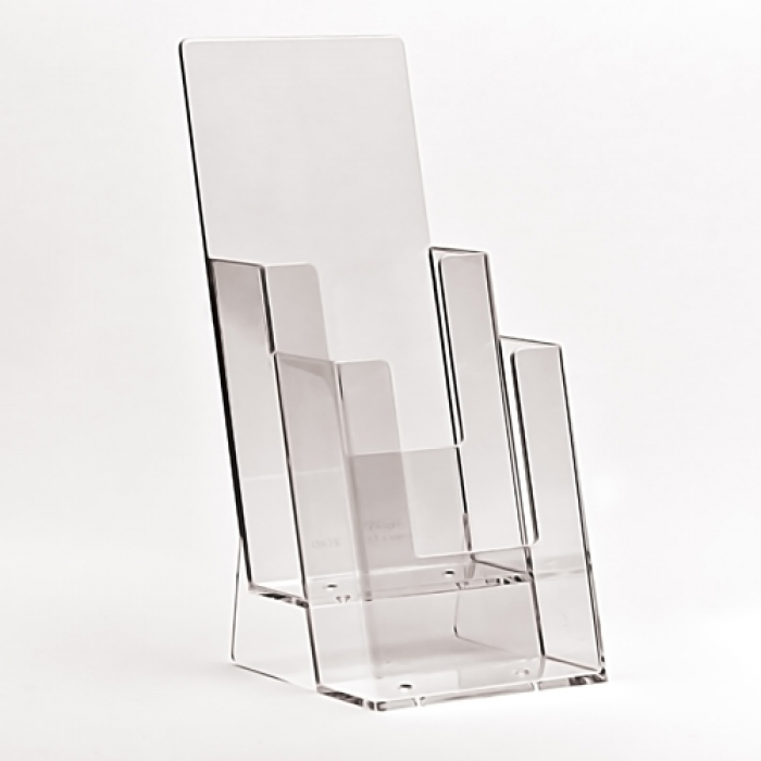 A4 Dl Two Pocket Portrait Acrylic Leaflet Holders For Sale