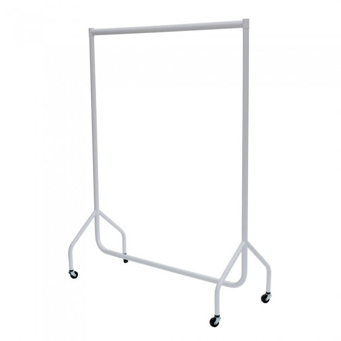 white clothes rail mobile clothes rail pop up wardrobe. Black Bedroom Furniture Sets. Home Design Ideas
